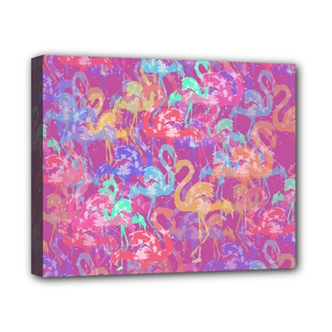 Flamingo Pattern Canvas 10  X 8  by Valentinaart