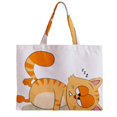 Even Cat Hates Monday Zipper Mini Tote Bag by Catifornia