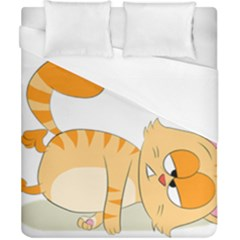 Even Cat Hates Monday Duvet Cover (california King Size) by Catifornia
