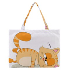 Even Cat Hates Monday Medium Zipper Tote Bag