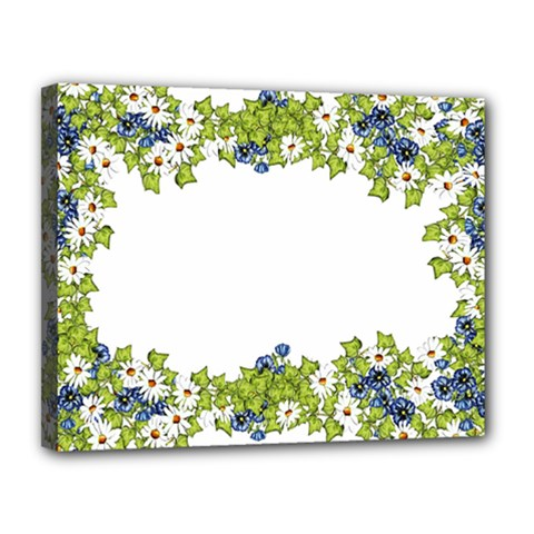 Birthday Card Flowers Daisies Ivy Canvas 14  X 11