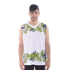 Birthday Card Flowers Daisies Ivy Men s Basketball Tank Top