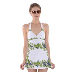 Birthday Card Flowers Daisies Ivy Halter Swimsuit Dress
