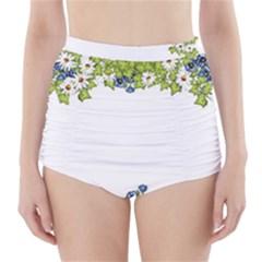 Birthday Card Flowers Daisies Ivy High Waisted Bikini Bottoms