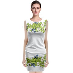 Birthday Card Flowers Daisies Ivy Classic Sleeveless Midi Dress