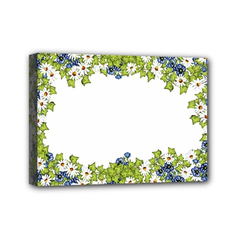 Birthday Card Flowers Daisies Ivy Mini Canvas 7  X 5