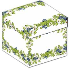 Birthday Card Flowers Daisies Ivy Storage Stool 12   by Nexatart