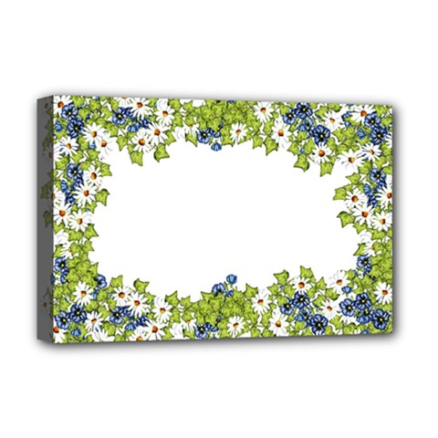 Birthday Card Flowers Daisies Ivy Deluxe Canvas 18  X 12