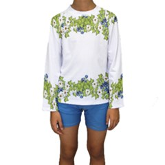 Birthday Card Flowers Daisies Ivy Kids  Long Sleeve Swimwear by Nexatart
