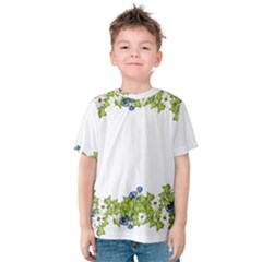 Birthday Card Flowers Daisies Ivy Kids  Cotton Tee