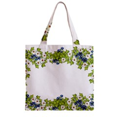 Birthday Card Flowers Daisies Ivy Zipper Grocery Tote Bag