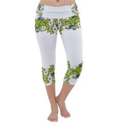 Birthday Card Flowers Daisies Ivy Capri Yoga Leggings