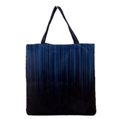 Black Blue Line Vertical Space Sky Grocery Tote Bag by Mariart