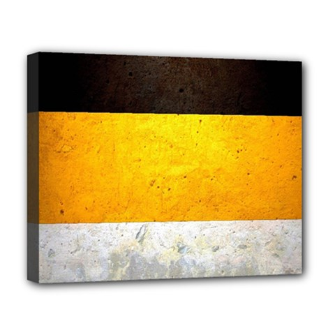 Wooden Board Yellow White Black Deluxe Canvas 20  X 16   by Mariart