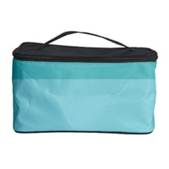 Dachis Beach Line Blue Water Cosmetic Storage Case by Mariart