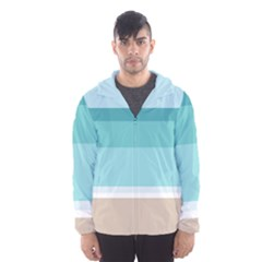 Dachis Beach Line Blue Water Hooded Wind Breaker (men) by Mariart
