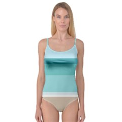 Dachis Beach Line Blue Water Camisole Leotard  by Mariart