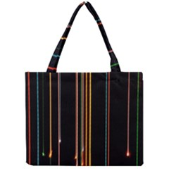 Fallen Christmas Lights And Light Trails Mini Tote Bag by Mariart