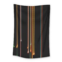 Fallen Christmas Lights And Light Trails Small Tapestry by Mariart