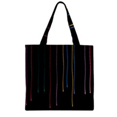 Falling Light Lines Perfection Graphic Colorful Zipper Grocery Tote Bag by Mariart