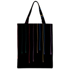 Falling Light Lines Perfection Graphic Colorful Zipper Classic Tote Bag by Mariart