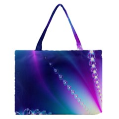 Flow Blue Pink High Definition Medium Zipper Tote Bag by Mariart