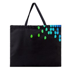 Green Black Widescreen Zipper Large Tote Bag by Mariart