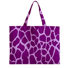 Giraffe Skin Purple Polka Mini Tote Bag by Mariart