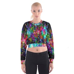 Colorful Bubble Shining Soap Rainbow Cropped Sweatshirt by Mariart