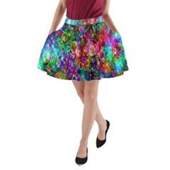 Colorful Bubble Shining Soap Rainbow A Line Pocket Skirt by Mariart
