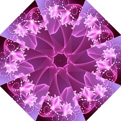 Lotus Sunflower Sakura Flower Floral Pink Purple Polka Leaf Polkadot Waves Wave Chevron Folding Umbrellas by Mariart