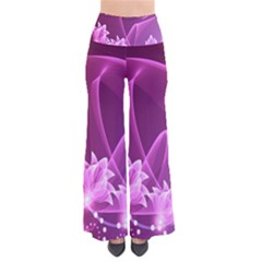 Lotus Sunflower Sakura Flower Floral Pink Purple Polka Leaf Polkadot Waves Wave Chevron Pants by Mariart