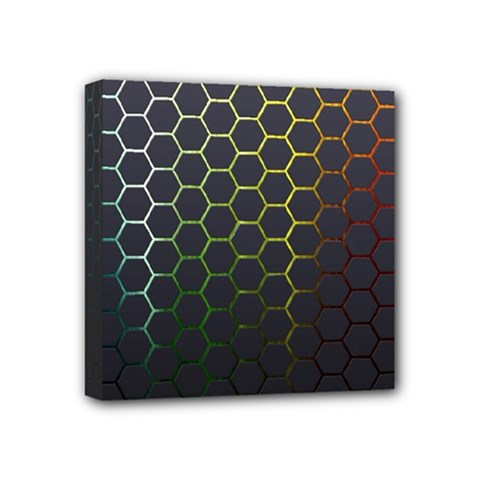 Hexagons Honeycomb Mini Canvas 4  x 4  by Mariart