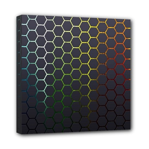 Hexagons Honeycomb Mini Canvas 8  X 8  by Mariart