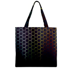 Hexagons Honeycomb Zipper Grocery Tote Bag by Mariart