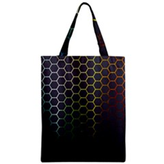 Hexagons Honeycomb Zipper Classic Tote Bag by Mariart