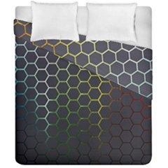 Hexagons Honeycomb Duvet Cover Double Side (california King Size) by Mariart
