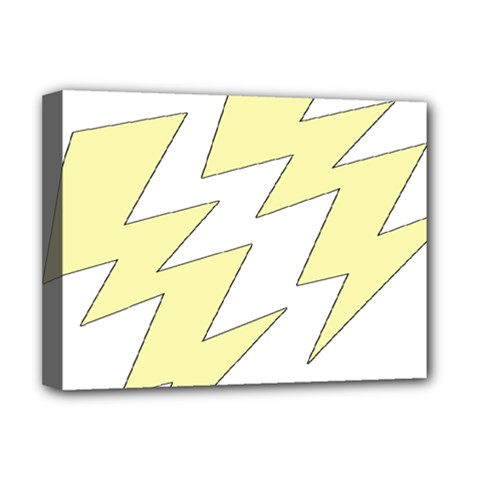 Lightning Yellow Deluxe Canvas 16  X 12   by Mariart