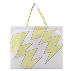 Lightning Yellow Zipper Large Tote Bag by Mariart