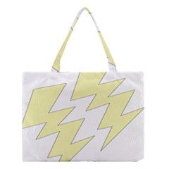 Lightning Yellow Medium Tote Bag by Mariart