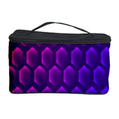Hexagon Widescreen Purple Pink Cosmetic Storage Case by Mariart
