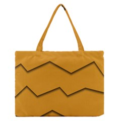 Orange Shades Wave Chevron Line Medium Zipper Tote Bag