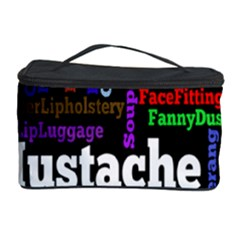Mustache Cosmetic Storage Case by Mariart