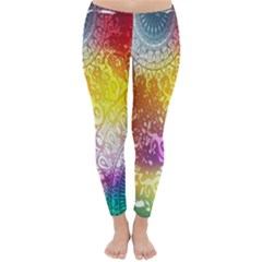Multi Colour Alpha Classic Winter Leggings by Mariart