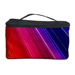 Multicolor Light Beam Line Rainbow Red Blue Orange Gold Purple Pink Cosmetic Storage Case by Mariart