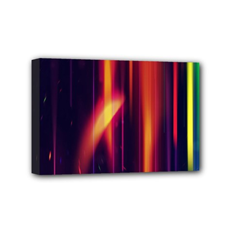 Perfection Graphic Colorful Lines Mini Canvas 6  X 4  by Mariart