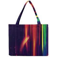 Perfection Graphic Colorful Lines Mini Tote Bag by Mariart