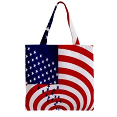 Star Line Hole Red Blue Zipper Grocery Tote Bag by Mariart