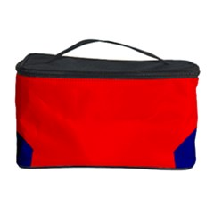 Stars Red Blue Cosmetic Storage Case by Mariart