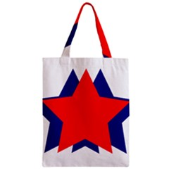 Stars Red Blue Zipper Classic Tote Bag by Mariart